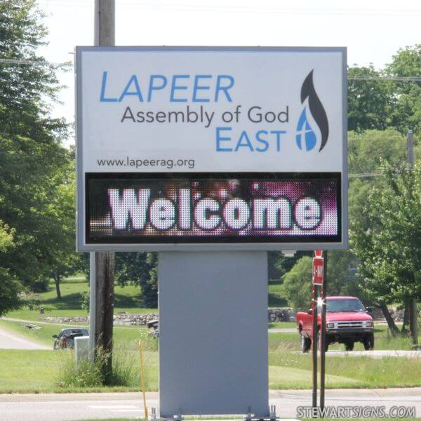 Church Sign for Lapeer Assembly Of God