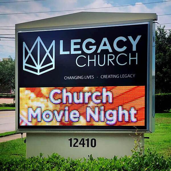 Church Sign for Calvary Church