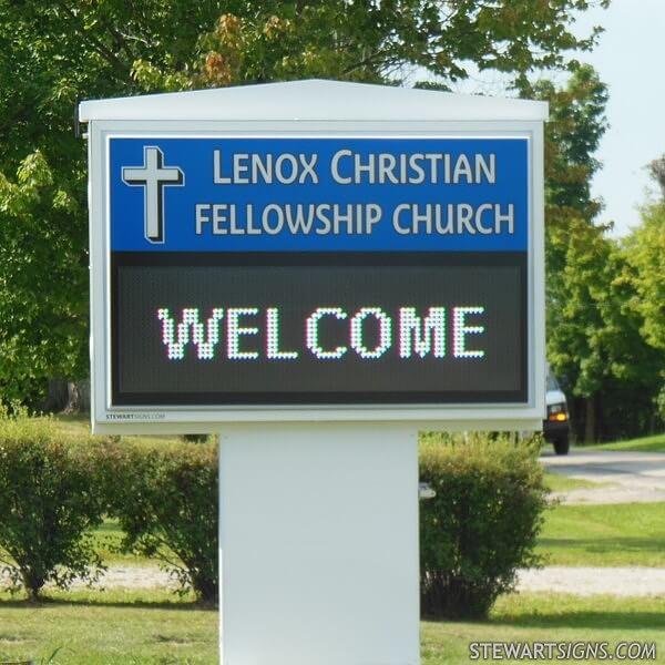 Church Sign for Lenox Christian Fellowship Church
