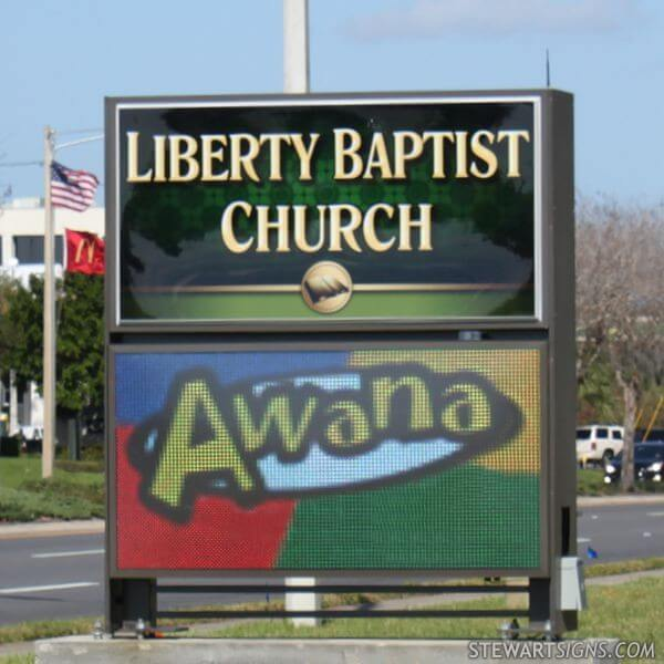 Church Sign for Liberty Baptist Church