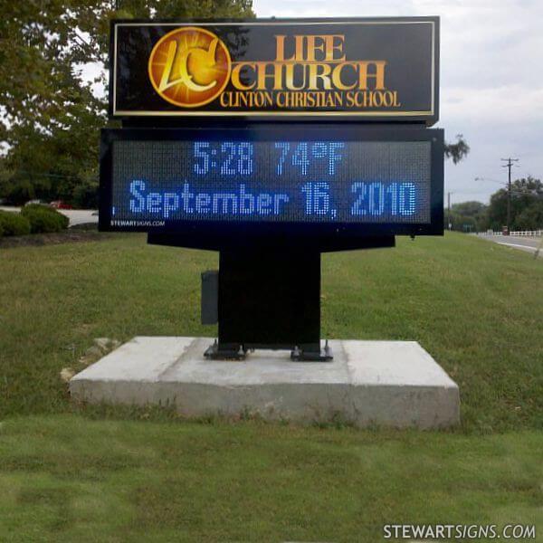 Church Sign for Life Church