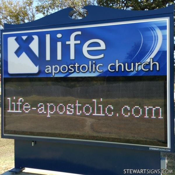Church Sign for Life Apostolic Church