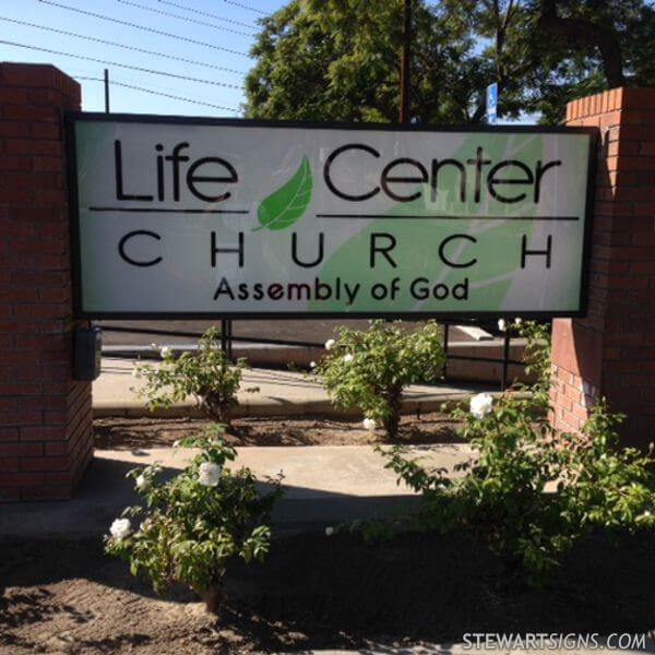 Church Sign for Life Center Church