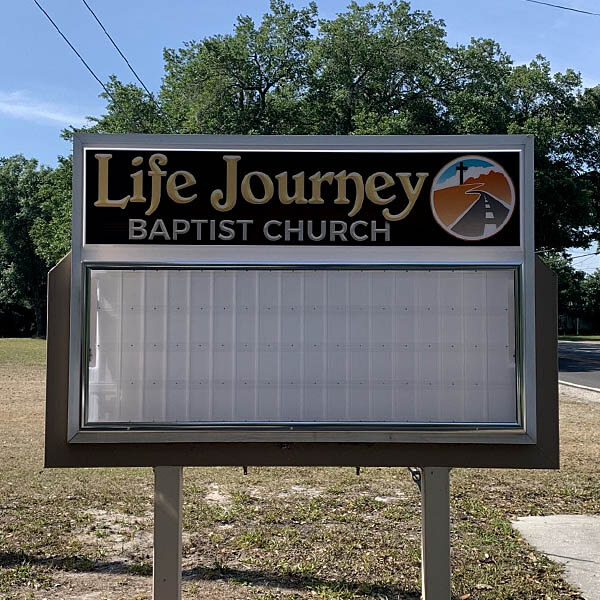Church Sign for Life Journey Baptist Church