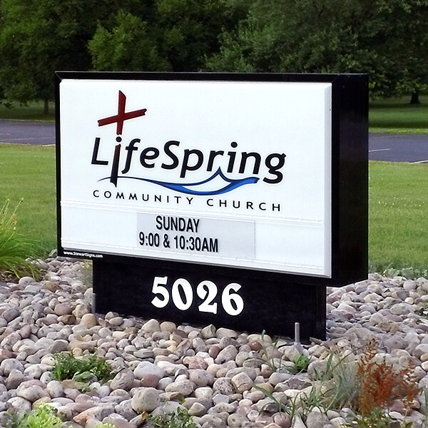 Church Sign for Lifespring Community Church
