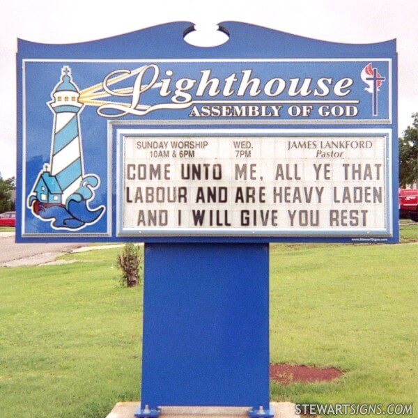 Church Sign for Lighthouse Assembly Of God