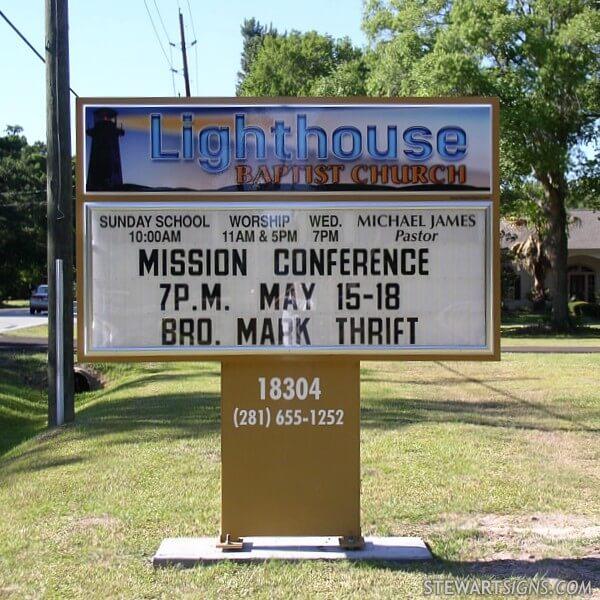 Church Sign for Lighthouse Baptist Church