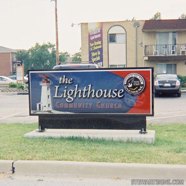 Church Sign for Lighthouse Community Church Of The Nazarene
