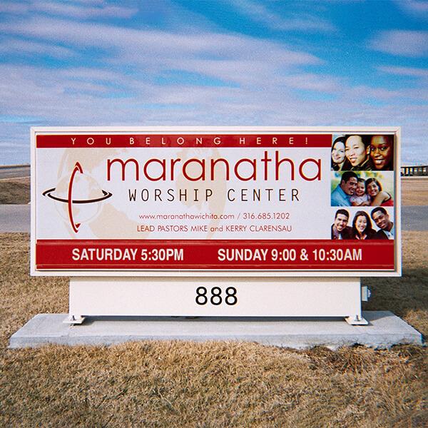 Church Sign for Maranatha Worship Center