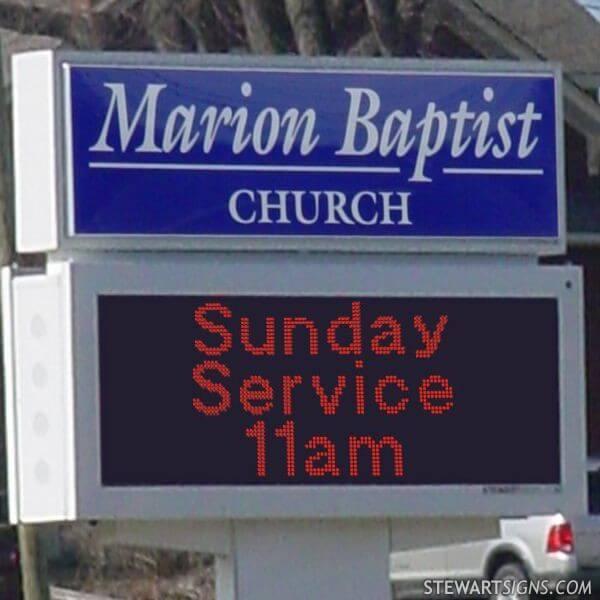 Church Sign for Marion Baptist Church