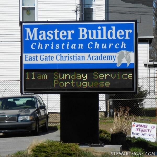 Church Sign for Master Builder Christian Church