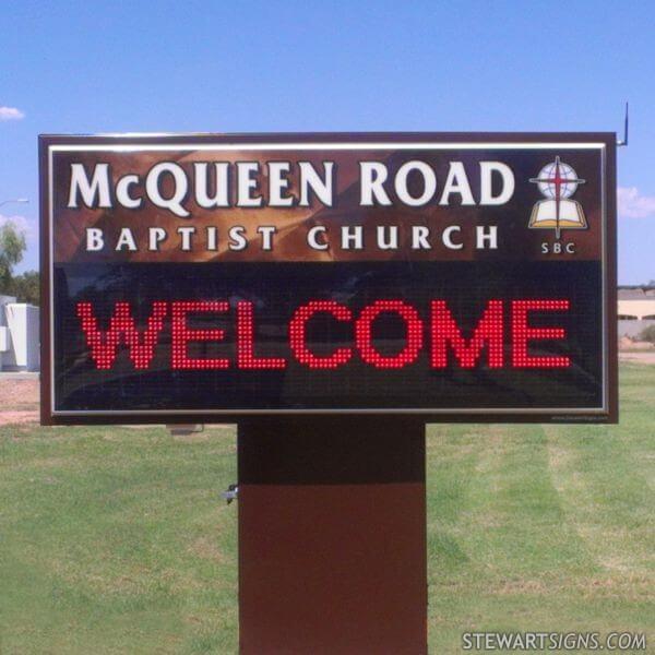 Church Sign for Mcqueen Road Baptist Church