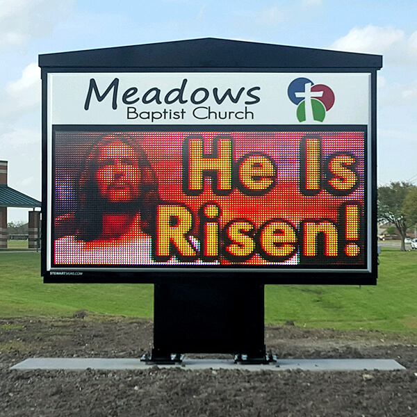 Church Sign for Meadows Baptist Church
