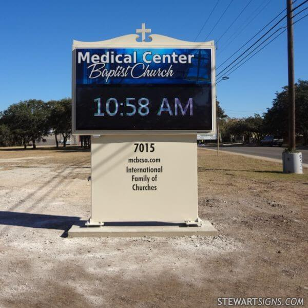 Church Sign for Medical Center Baptist Church