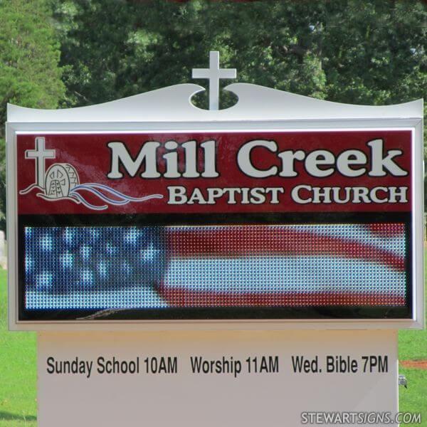 Church Sign for Mill Creek Baptist Church
