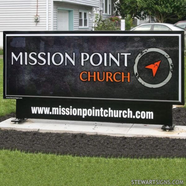 Church Sign for Mission Point Church