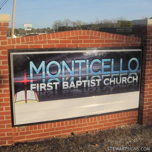 Church Sign for Monticello First Baptist Church