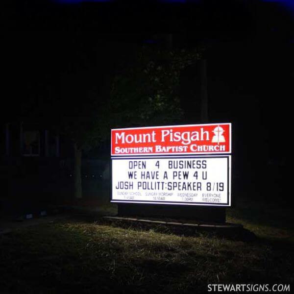 Church Sign for Mt. Pisgah Baptist Church