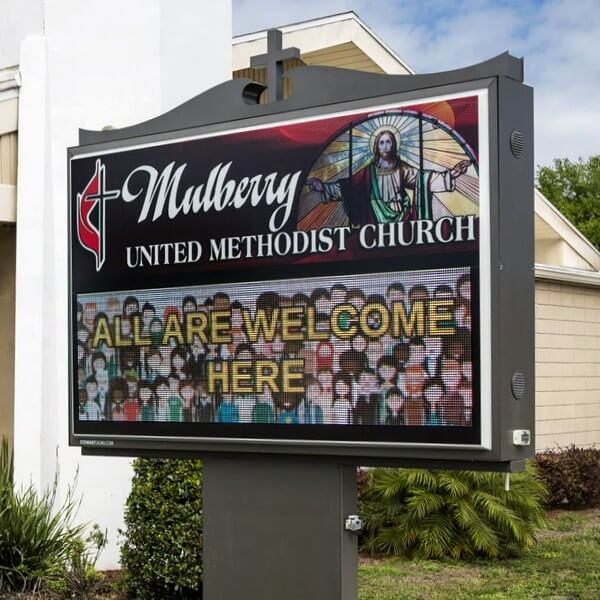 Church Sign for Mulberry United Methodist