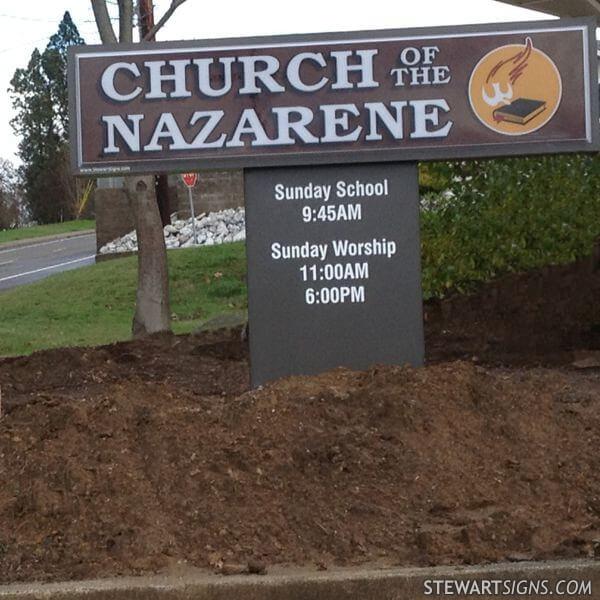 Church Sign for Winston Church Of The Nazarene