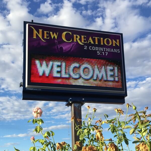 Church Sign for New Creation Ministries