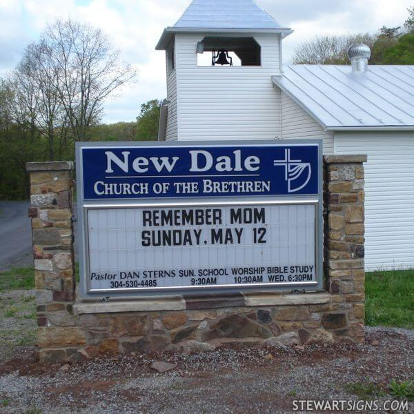Church Sign for New Dale Church Of The Brethren