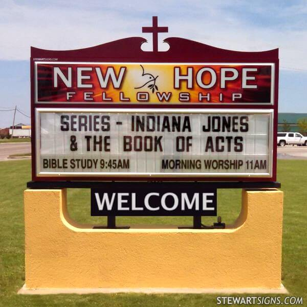 Church Sign for New Hope Fellowship