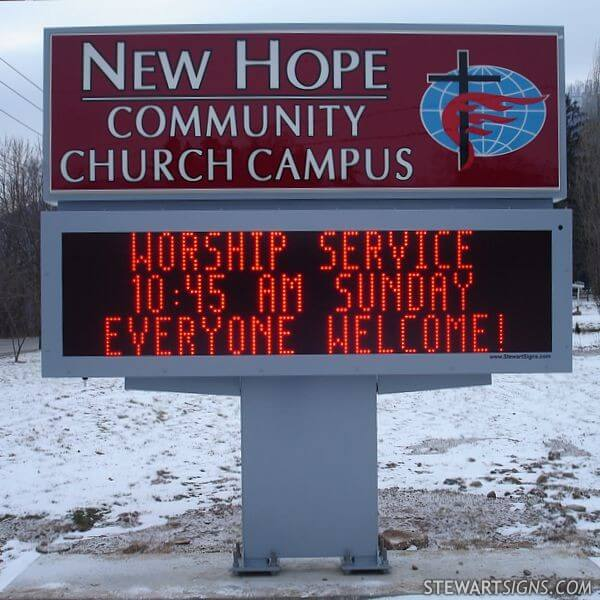 Church Sign for New Hope Community Church