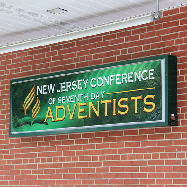 Church Sign for New Jersey Conference Of Seventh-day Adventists