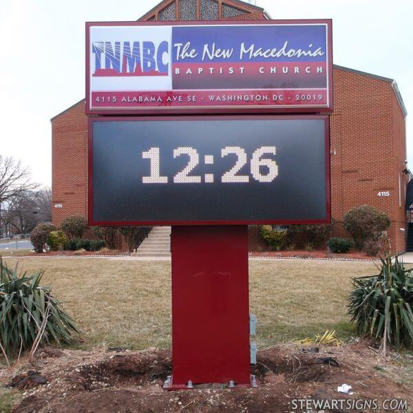 Church Sign for The New Macedonia Baptist Church