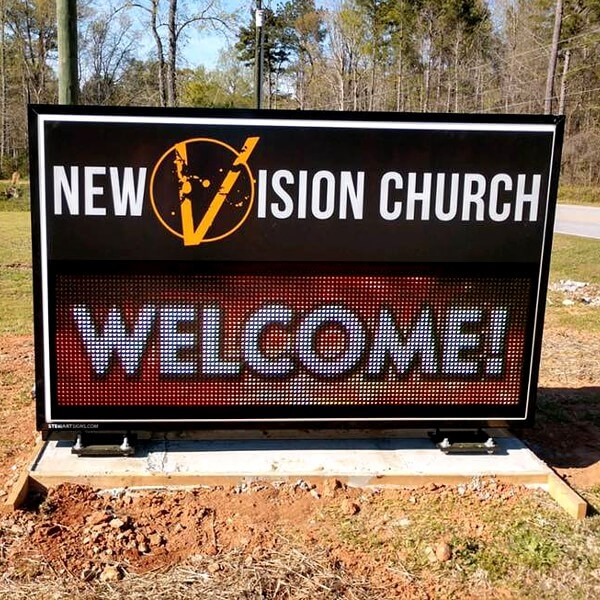 Church Sign for New Vision Church