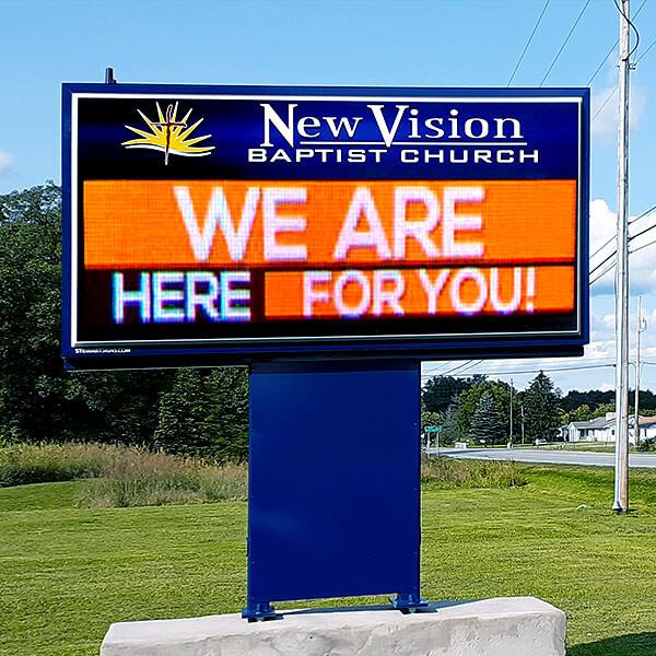 Church Sign for New Vision Baptist Church