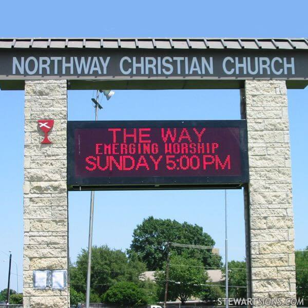 Church Sign for Northway Christian Church