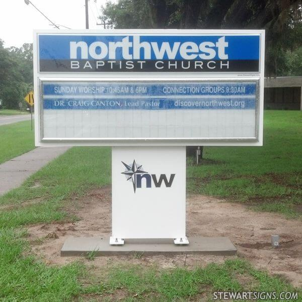 Church Sign for Northwest Baptist Church