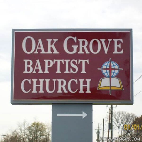 Church Sign for Oak Grove Baptist Church