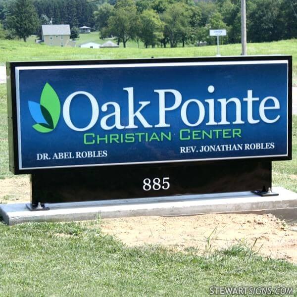 Church Sign for Oakpointe Christian Center