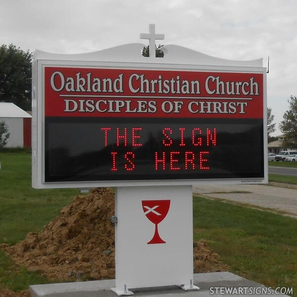 Church Sign for Oakland Christian Church