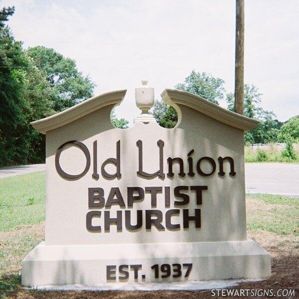 Church Sign for Old Union Baptist Church