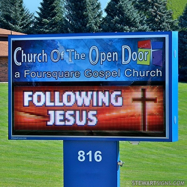 Church Sign for Church Of The Open Door
