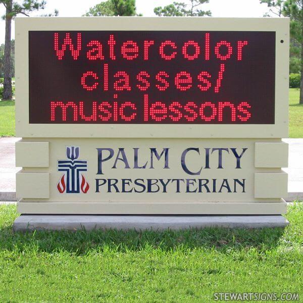 Church Sign for Palm City Presbyterian Church