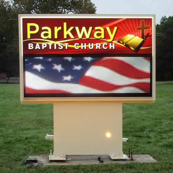 Church Sign for Parkway Baptist Church
