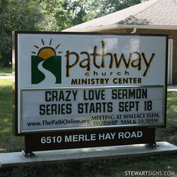 Church Sign for Pathway Church
