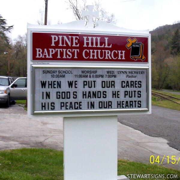 Church Sign for Pine Hill Baptist Church