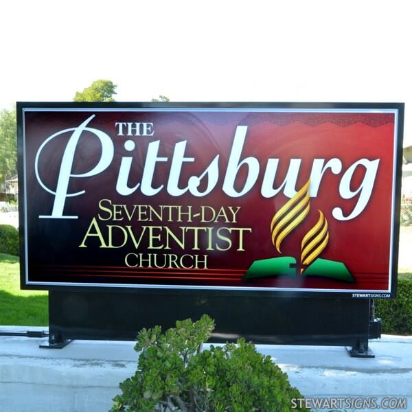 Church Sign for Pittsburg Seventh Day Adventist Church