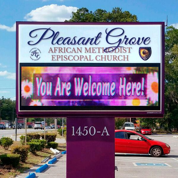Church Sign for Pleasant Grove AME Church
