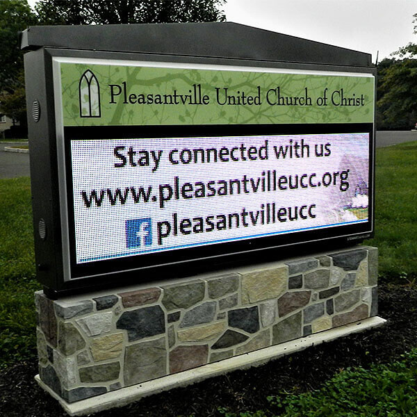 Church Sign for Pleasantville United Church Of Christ