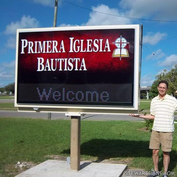 Church Sign for Primera Iglesia Bautista & Day School