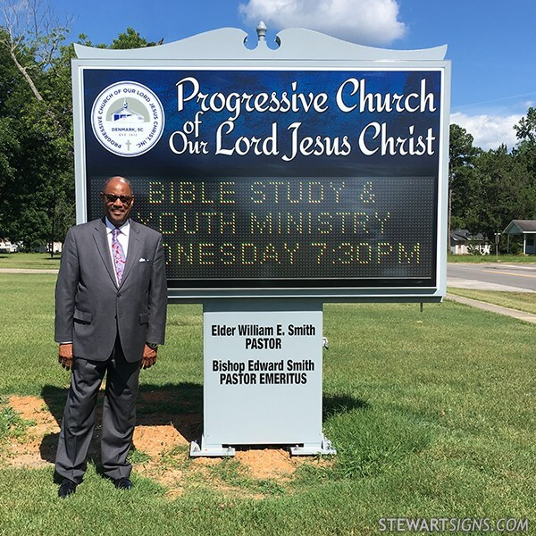 Church Sign for Progressive Church Of Our Lord Jesus Christ