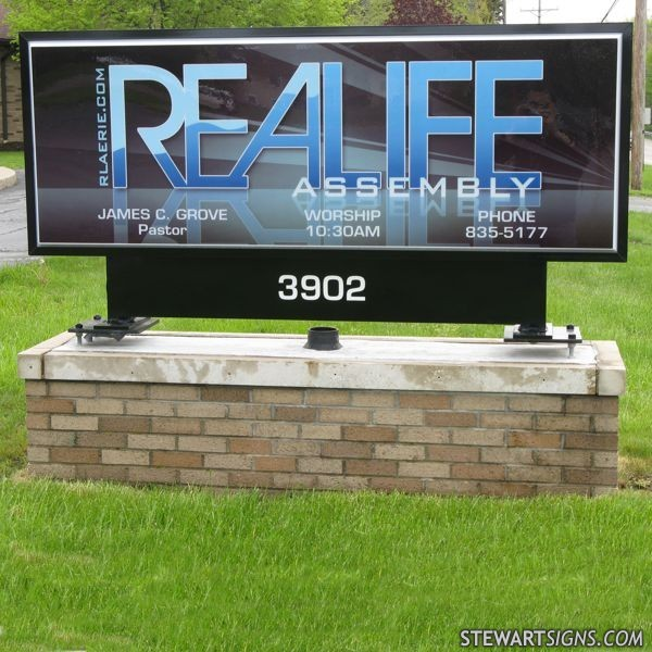 Church Sign for Realife Assembly