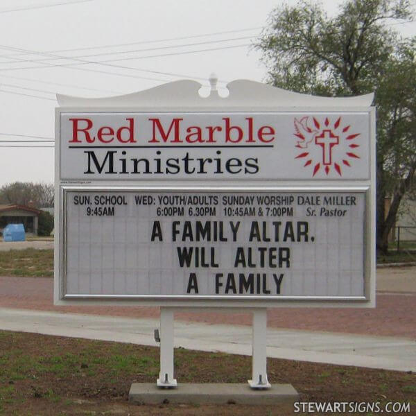Church Sign for Red Marble Ministries